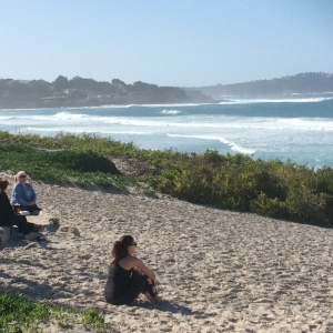 The next morning called for a walk on the Carmel beach