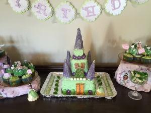 The Tiana castle cake has magically appeared on the buffet