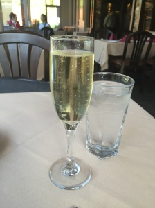 A glass of Saint Hilaire French Brut brushed aside memories of a longer than usual trip down