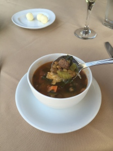 ...and a hearty bowl of lentil beef vegetable soup felt so welcoming