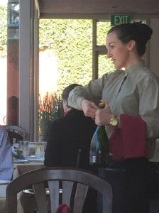 The smile of a charming waitperson added to the charm