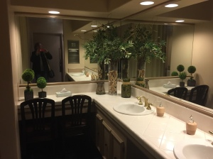 And as every woman knows, a well appointed restroom is an added bonus