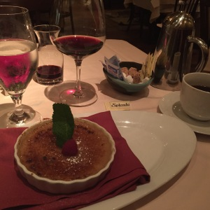 And could I resist the Crème Brûlée wiht Espresso and Frangelico...of course not!